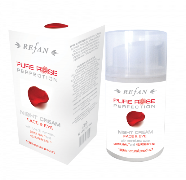 Crema notte viso e occhi Pure Rose Perfection - con NeurophrolineTM 50 ml